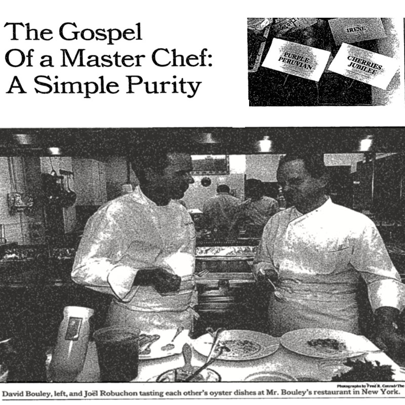 NY Times David Bouley Joel Robuchon (1991) - image1
