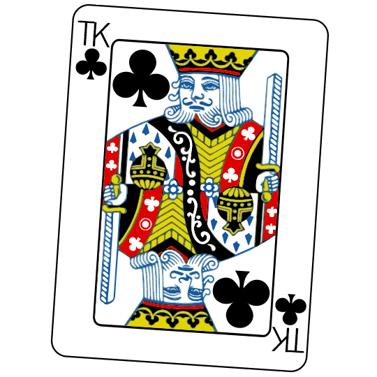 Bouley Close-up Chef's Magic Parlor - A Kind of Clubs playing card with the Bouley TK logo