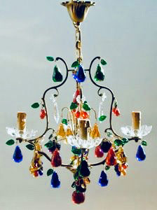 Crystal Fruit Chandelier for Sale