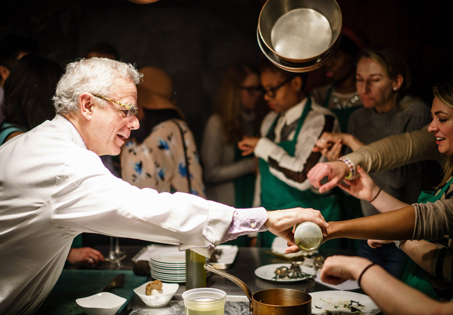 David Bouley Cooking Class: Power of Kombu and Purity of Water Importance